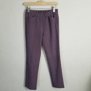 Zara Trafaluc Printed Career Pants